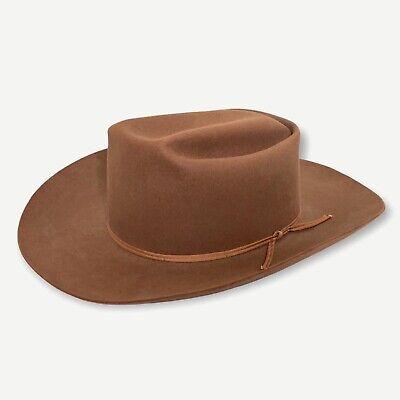 1950s Mens Hats | 50s Vintage Men's Hats Vtg 1950s MILLER Cowboy Hat 7 1/8 to 7 1/4 Western Fedora RANCHER Open Road boss $199.99 AT vintagedancer.com