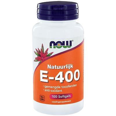 Natürliche Tocopherole (Now Foods, E-400 100 % natürlich gemischte Tocopherole, 100 Kapseln)
