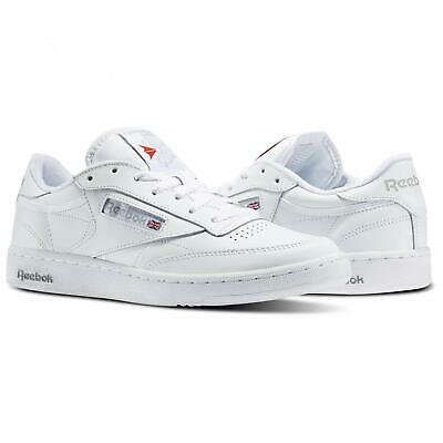 Reebok Club C 85 White Sheer Grey Blue Fashion Mens Casual Shoes AR0455 Sizes
