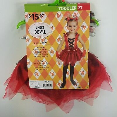 Halloween Costume Sweet Devil Toddler (2T) Fantasy Dress Up Outfit Play GG