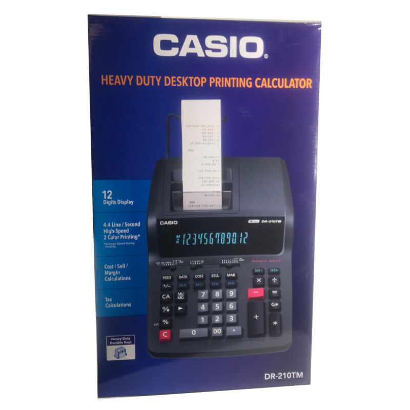 Casio DR-210TM Two-Color Heavy Duty Desktop Printing Calculator