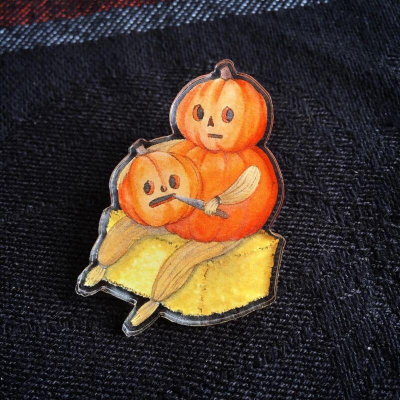 Over The Garden Wall Pumpkin Acrylic Pin
