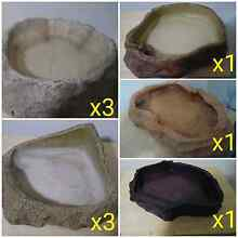 WATER BOWLS & JUMBO HIDES FOR SALE OR SWAPS GECKO/SAND SWIMMERs Marsden Logan Area Preview