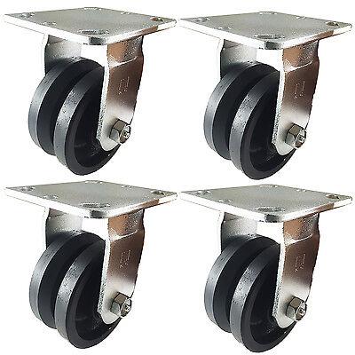 4 X 2 V-groove Caster - 4 Rigids