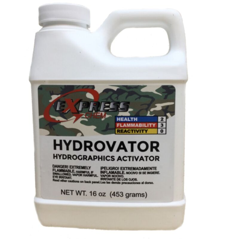 HYDROVATOR ® Hydrographic Hydro Dip Dipping  water transfer Activator 16oz Pint