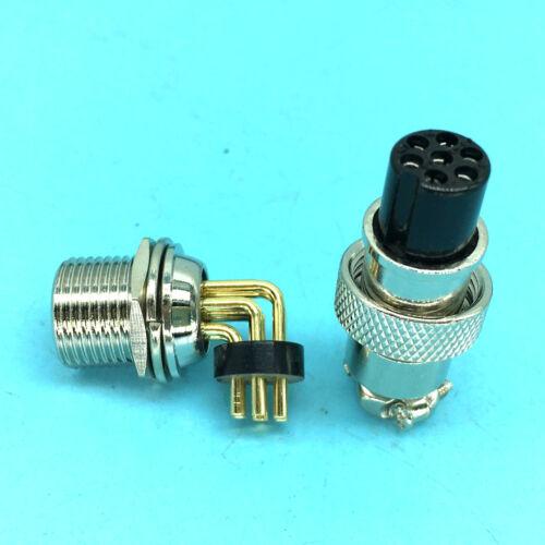 10 set 7 Pin Right angle Aviation Plug Socket Cable Connector GX12 PCB soldering