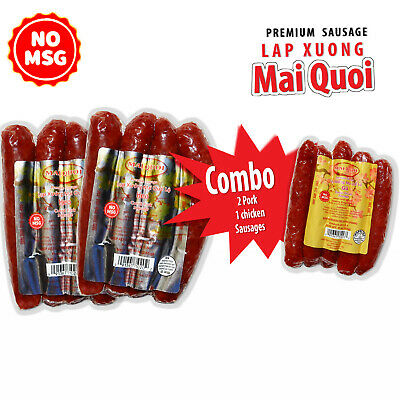 Premium Cambodian 3 bags x 9oz Pork and Chicken Cured Sausages