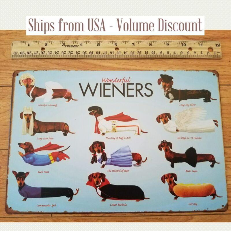 4x4 inch Heart /& Banner Shaped DACHSHUND Sticker dog weener weiner wiener dach