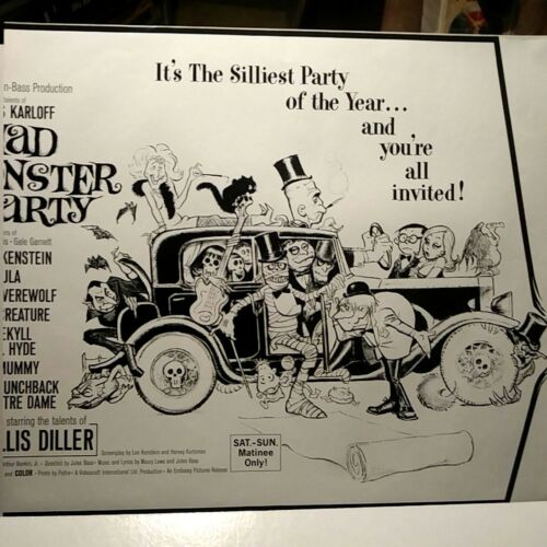FRANK FRAZETTA MAD MONSTER PARTY MOVIE POSTER REPRODUCTION, 20X24 MINT, CROPPED
