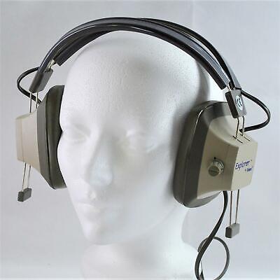 Nos Vintage Telex Explorer Eh-3sv Binaural Headphones Metal Detecting Ham Radio