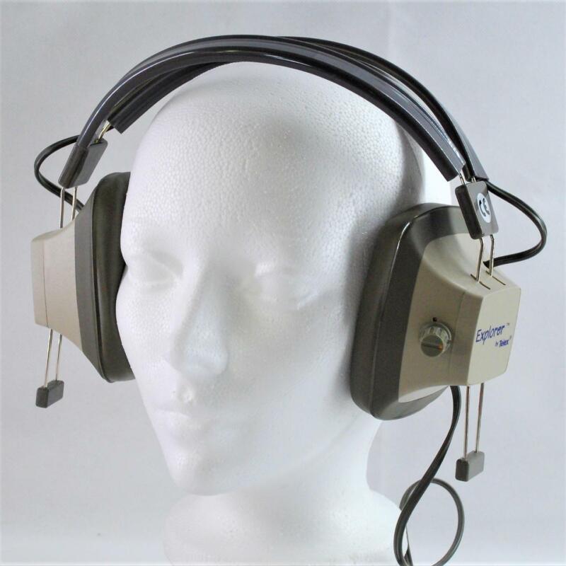 NOS Vintage Telex Explorer EH-3SV Binaural Headphones Metal Detecting, Ham Radio