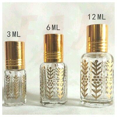 3Ml 6Ml 12Ml High Quality Empty Gold Design Perfume Oil Attar Bottles Stick On