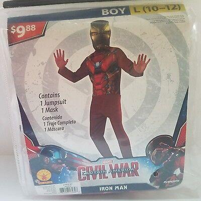 Halloween Costume Civil War Iron Man Boy L (10-12)  Fantasy Dress Up Outfit  GA