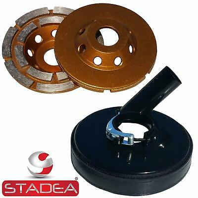 Stadea Grinder Dust Shroud With 4 Concrete Grinding Cup Wheel With 78 Hole