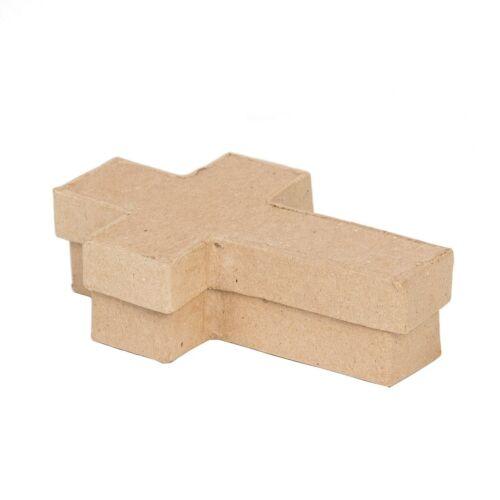 "Paper Mache Cross Box  - 5"""
