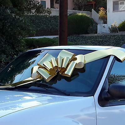 Car Bow (Big Metallic Gold Car Bow - 25