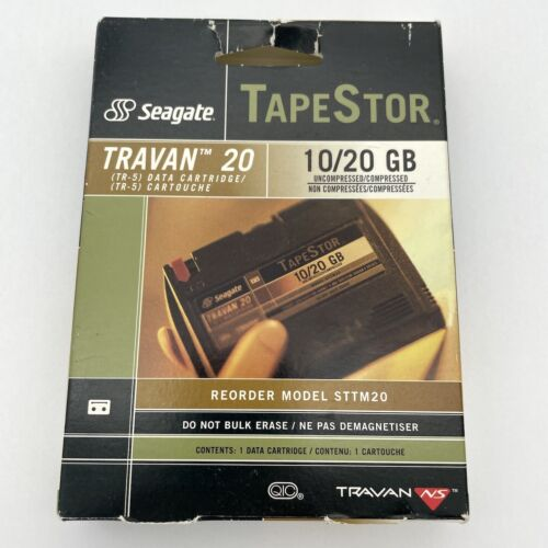 NEW Seagate TapeStor Travan TR-5 Tape 10/20GB, STTM20 - Sealed NS20