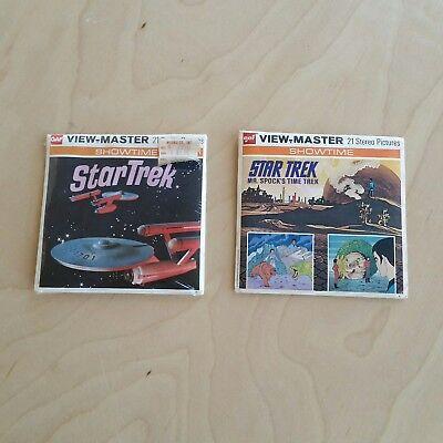 Star Trek View-Master Showtime The Omega Glory & Mr. Spock's Time Trek