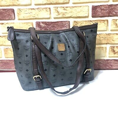 100% Authentic MCM Visetos Shopper Shoulder Bag