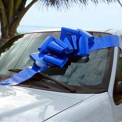 Car Bow (Big Royal Blue Car Bow - 25