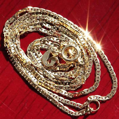 "10k yellow gold necklace 20.0"" solid gucci style link chain vintage 1.2gr"