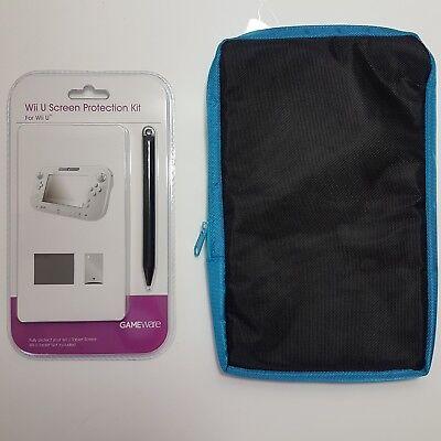 Case + Screen Protection Kit Bundle for Wii U controller Tablet