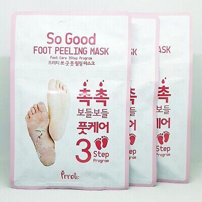 Prreti So Good Foot Peeling 3-Step Mask 3pcs Cleanser Mask Cream K-Beauty