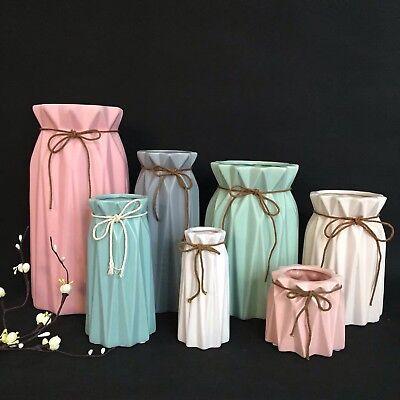 e Blumentopf Origami  Designvase Weiß Rosa blau  Matt (Weiße Keramik-vasen)