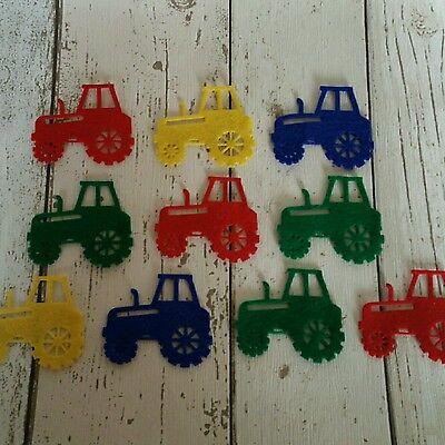 Felt Tractors, die cut felt, die cut tractors, felt farm, felt board set