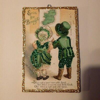 St. Patricks Day Glitter Wood  Ornament  little Irish boy and Girl](St Patricks Day Ornaments)