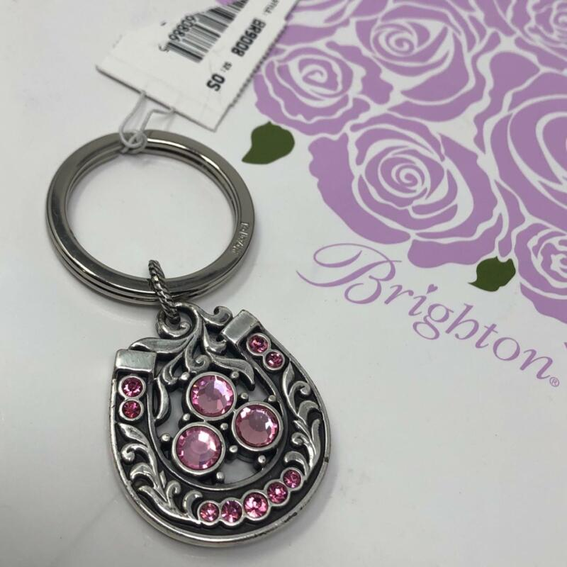 BRIGHTON   LUCKY LADY HORSESHOE KEY FOB  WITH PINK CRYSTALS NWoutlet tag