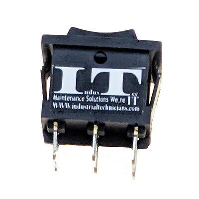 Industec Rocker Switch 6 - Pin Dpdt 3 Pos 10a 125 V Maintained 12v 24v Polatity