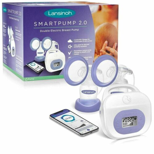 Lansinoh 53250 Smartpump 2.0 Double Electric Breast Pump, Quiet and Portable