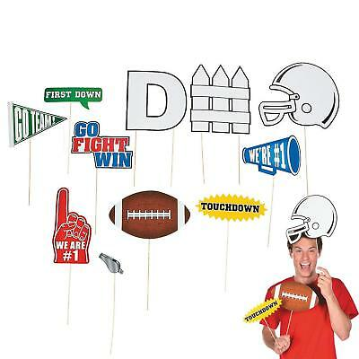 Football Photo Stick Props (12 Pack) Cardstock.