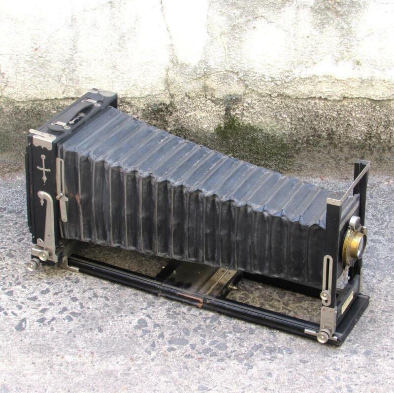 "Antique Improved Seneca View 5x7 Camera w/ R&J Beck 8.25"" f/5.8 Isostigmar Lens"
