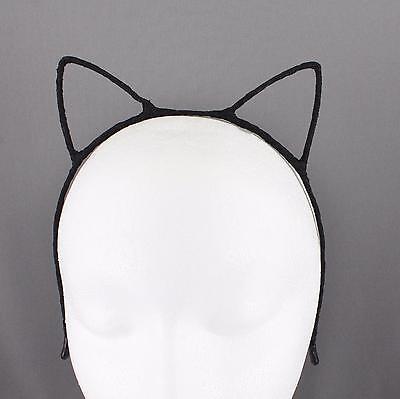 Black Cat Ears (Black cat ears headband kitty headband kawaii cosplay kitten ear hair)
