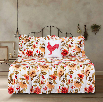 Yellow Quilt Set - Twin Full Queen or King Quilt Sunflower Bedspread Bedding Set Floral Yellow