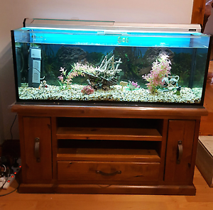 Fish tank and stand cupboard Fairview Park Tea Tree Gully Area Preview