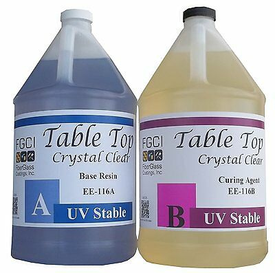 Epoxy Table Top Resin 2 Gallon Kit Crystal Clear Includes Part A B 135368