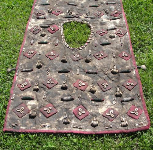 African Hunter Vest Amulets Textile Yoruba Bambara Shamanic Medicine Tunic Shirt