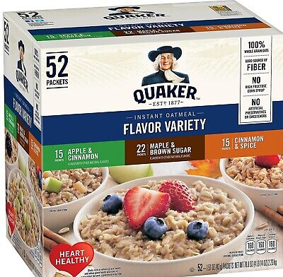 Oatmeal - Quaker Instant Oatmeal Variety Pack (52 ct.)