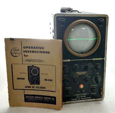 Vintage 1950s Precision Apparatus Co Series Es-520 Cathode Ray Oscillograph