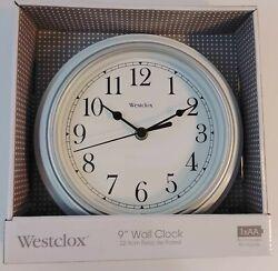 Westclox 9 WALL CLOCK Quartz Movement WHITE *NEW*