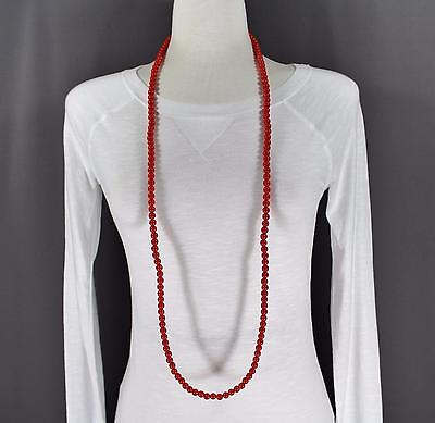 Red super extra long bead 44