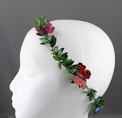 Butterfly Green Leaf crown Leaves headband hair band greek toga roman costume - Roman Leaves