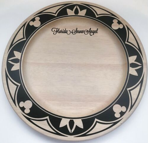 """Disney Parks Mickey Mouse Wood Charger Plate Homestead Collection 14"""" New"""
