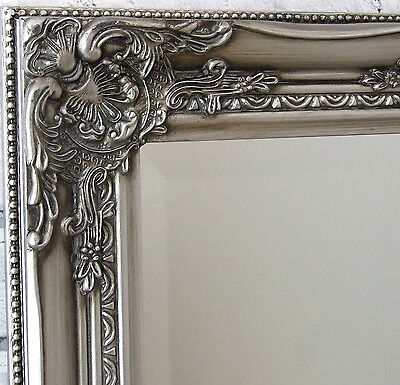 Kingsbury full length ornate large vintage leaner wall for Large silver decorative mirrors