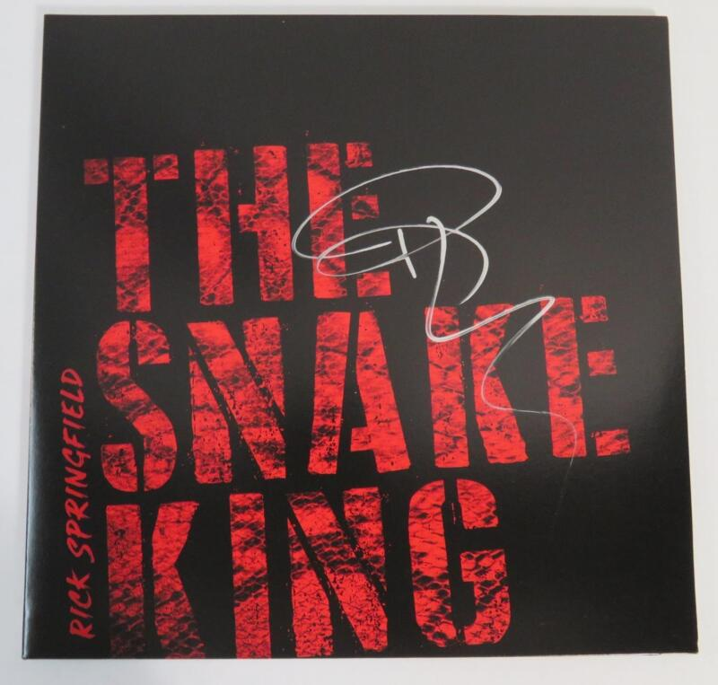 "RICK SPRINGFIELD Signed Autograph ""The Snake King"" Album Vinyl Record LP"