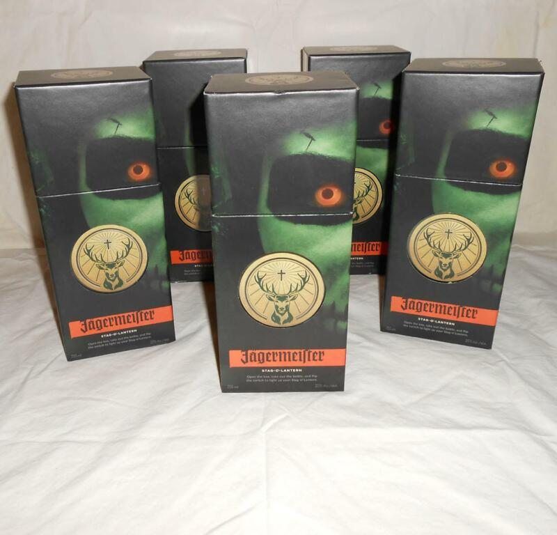 LOT OF 5 Jagermeister STAG-O-LANTERN Halloween Promo Light-Up Display Boxes