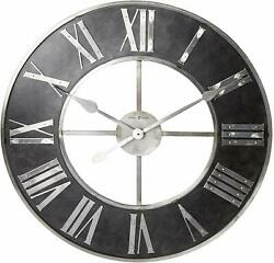 Howard Miller Dearborn Wall Clock 625-573 – Oversized Steel with Quartz Movement